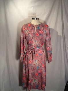 Pretty in Pink vintage Marti Petite 70's dress by Glassthatrocks, $17.00