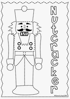 Pair with The Faceless Nutcracker or Nutcracker vs. Nutcracker written by Elizabeth Lee Sorrell illustrated by Sandra JS Coleman Christmas Makes, Noel Christmas, Christmas Colors, Winter Christmas, Xmas, Preschool Christmas, Christmas Activities, Preschool Crafts, Nutcracker Crafts