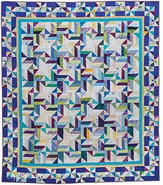 Addicted to Scraps: 12 Vibrant Quilt Projects by Bonnie K. Hunter.  'Tropical Twist'