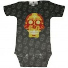 Candy Skull One Piece by Stella Blu Funky Outfits, Kids Outfits, Cool Onesies, Punk Rock Baby, Well Dressed Kids, Cool Baby Clothes, Candy Skulls, Baby Shirts, Baby Onesie