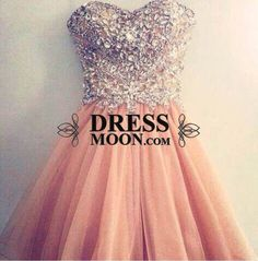 Lovely Empire Tulle Crystal Beadings Short Prom Dress - Sweet 16 Dresses - Homecoming | Cocktail | Party