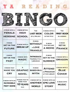 Bryce Don't Play: YA Reading Bingo: A Passive Program Guest Post by Amy Gregory Library Activities, Activities For Teens, Reading Activities, Teaching Reading, Library Science, Challenge For Teens, Book Challenge, Reading Challenge, Reading Bingo