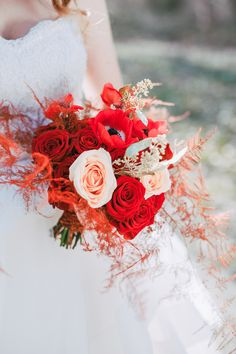 Bridal bouquet with red roses, anemones and golden eucalyptus. Metamorphoses by destination wedding planner High Emotion Weddings near Vienna Austria Anemones, Destination Wedding Planner, Vienna Austria, Different Shapes, Red Roses, Wedding Bouquets, Floral Wreath, Weddings, Bridal