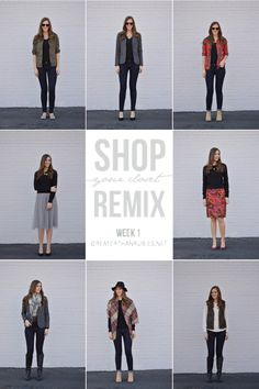 Shop Your Closet Remix Week 1 - Post includes links to her winning formulas on Pinterest.