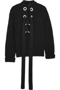 JOSEPH Lace-up cashmere sweater. #joseph #cloth #knitwear