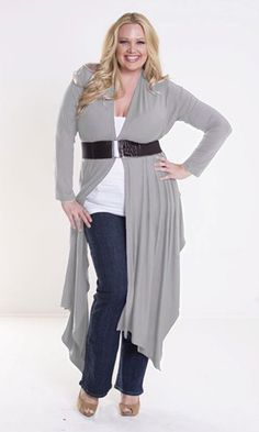 Grey Draped Sweater Belted: Pretty Clothes And Shoes On A Pretty Girl!