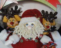Guirlanda Papai Noel e suas renas