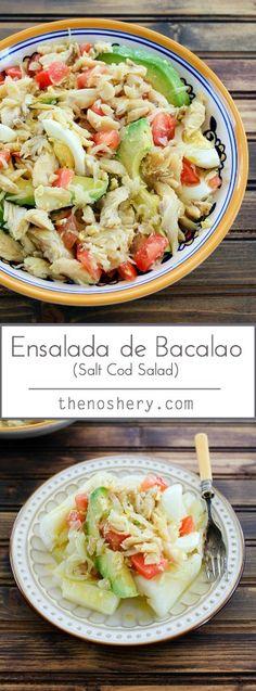 Ensalada de Bacalao (Salt Cod Salad) | TheNoshery.com - @thenoshery