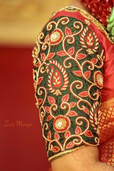 Discover thousands of images about 2059 Cutwork Blouse Designs, Wedding Saree Blouse Designs, Pattu Saree Blouse Designs, Sari Blouse, Blue Blouse, Simple Embroidery Designs, Embroidery Patterns, Cut Work Blouse, Mirror Work Blouse Design