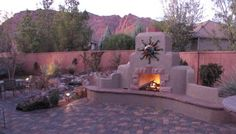 Outdoor Fireplace Landscaping Ideas | ... Ideas for Small Yards http://www.home-landscape-plan.com/patio-ideas