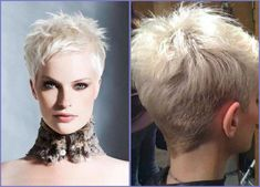 Platinum Blonde Pixie with Side Bang - 30 Standout Curly and Wavy Pixie Cuts - The Trending Hairstyle Short Choppy Hair, Short Spiky Hairstyles, Short Brown Hair, Haircuts For Curly Hair, Short Hair Cuts For Women, Short Hair Styles, Short Haircuts, Short Platinum Blonde Hair, Blonde Pixie