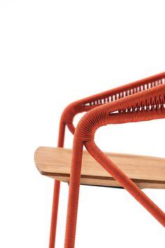 Sedia in corda con braccioli GEORGE'S by Living Divani   design David Lopez Quincoces