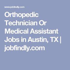 orthopedic medical assistant jobs