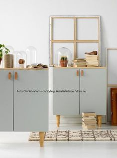 Picture published in Everything in the Home no. In the latest Everything in the Home which is out in store now I have redesigned three standard furniture. Ikea Inspiration, Ikea Units, Diy Furniture, Furniture Design, Retro Sideboard, Ikea Storage, Storage Ideas, Girl Room, Home And Living