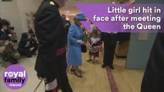 Little girl accidentally hit in the face by soldier after meeting the Queen Queen Youtube, Family Channel, Queen Elizabeth Ii, Little Girls, Face, Toddler Girls, The Face, Faces, Facial