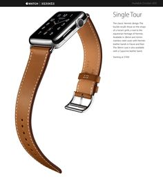Uncompromising craftsmanship. Pioneering innovation. Groundbreaking functionality. Apple Watch Hermès is the culmination of a partnership based on parallel thinking, singular vision, and mutual regard. It is a unique timepiece designed with both utility and beauty in mind. With leather straps handmade by Hermès artisans in France and an Hermès watch face reinterpreted by Apple designers in California, Apple Watch Hermès is a product of elegant, artful simplicity — the ultimate tool for…