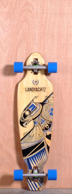 "The Landyachtz Battle Axe Longboard Complete is designed for Cruising, Carving and Freeride. Ships fully assembled and ready to skate! Function: Cruising, Carving, Freeride Features: Drop Through, Medium W Concave, Wheel Cutouts Material: 5 Ply Bamboo Length: 35.25"" Width: 9"" Wheelbase: 24.25 Thickness: 5/8"" Hole Pattern: Old School Grip: Clear"