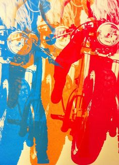"""Image of """"Tania & the Yamazuki"""" Limited Edition Poster Motorcycle Posters, Motorcycle Art, Bike Art, Cafe Racing, Cafe Bike, Bike Photo, Retro, Illustrations Posters, Vintage Posters"""
