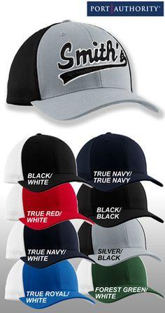 Port Authority Flexfit Mesh Back Cap $9.98 #Personalized #Custom # Embroidered #Cap #
