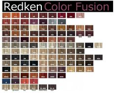 Redken hair color chart                                                       …