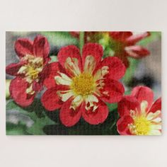 Flower Photo Puzzle. Jigsaw Puzzle - home gifts ideas decor special unique custom individual customized individualized