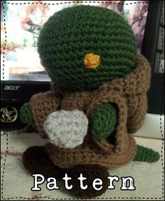 "A free crochet pattern for a Final Fantasy Tonberry amigurumi that stands about 7.5"" tall. Also has a downloadable PDF pattern for free. Created by ArtisticGaming"