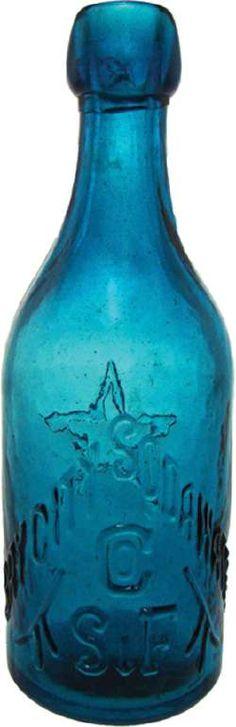 bay city soda water antique bottle