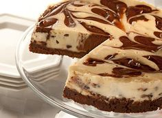 Try this Chocolate Swirled Chocolate Chip Cheesecake recipe, made with HERSHEY& products. Enjoyable baking recipes from HERSHEY& Kitchens. Just Desserts, Delicious Desserts, Dessert Recipes, Cupcake Recipes, Yummy Recipes, Kraft Recipes, Party Desserts, Sweet Recipes, Cookie Recipes