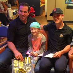 Meanwhile, back in Boston, Jimmy Hayes and Torey Krug paid a visit to The Jimmy Fund Clinic in anticipation of the WEEI/NESN Jimmy Fund Radio Telethon on August 18 & 19. #NHLBruins