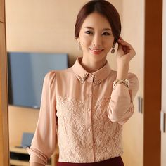 Find More Blouses & Shirts Information about Promotion Women Blouses 2014 New Spring Korean Temperament Self cultivation Chiffon Shirt Lapel Flowers Elegant shirt A018,High Quality t-shirt superman,China shirt shirt Suppliers, Cheap shirt camouflage from FASHION SHOW ( Drop Shipping ) on Aliexpress.com
