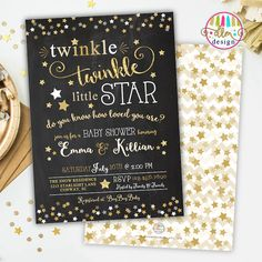 Twinkle Twinkle Little Star Baby Shower Invitation, Gender Neutral Invite…