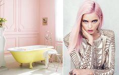 Moda + Décor - Tons Pastel. Veja: http://casadevalentina.com.br/blog/detalhes/moda-+-decor--tons-pastel-2938 #decor #decoracao #interior #design #casa #home #house #idea #ideia #detalhes #details #style #estilo #casadevalentina #color #cor  #moda #fashion #bathroom #banheiro