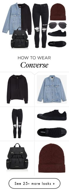 """Sin título #14427"" by vany-alvarado on Polyvore featuring Burberry, AMIRI, Converse, Monki and Topshop"