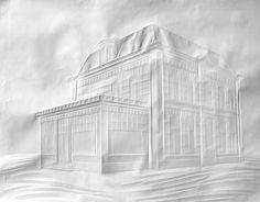 folded paper art by Simon Schubert