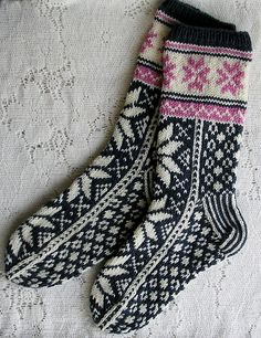 Ravelry: sweatergoddess' Norwegian Socks Free Drops pattern More