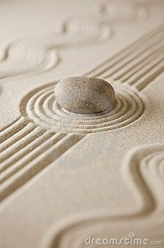 Zen - Raked Sand and Stone -  Colors:   White, Cream, Ecru