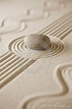 Zen - Raked Sand and Stone -  Colors:   White, Cream, Ecru