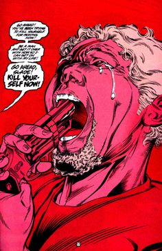 """""""Wintergreen also is always there to stop him [Slade] from completely destroying himself. May it be to push him, ..."""