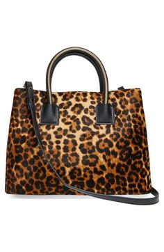 Milly+'Logan'+Leopard+Print+Calf+Hair+&+Leather+Tote+available+at+#Nordstrom
