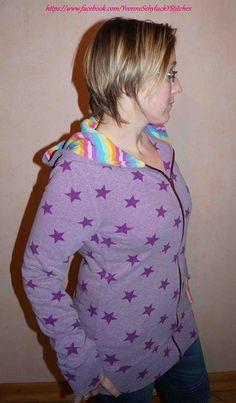 Schnittmuster / Ebook lillesol women No.15 Kapuzenjacke / Nähen Sweatshirt Jacke / Sewing pattern hooded jacket