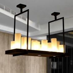Warehouse of Tiffany Brelli Black 12 Upper Candle Light and 3 Lower LED Light Bulbs Included Chandelier Candle Chandelier Includes All Bulbs) (Glass) Rustic Kitchen Island, Kitchen Island Lighting, Kitchen Chandelier, Candle Chandelier, Edison Lighting, Home Lighting, Lighting Ideas, Lighting Design, Pendant Lighting