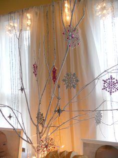 Winter ONEderland tree centerpiece