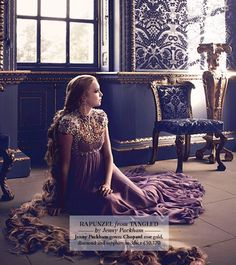 Rapunzel from Tangled by Jenny Packham. Photo by Jason Ell for Harrods Magazine.