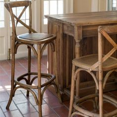 Find rustic farmhouse chairs from Antique Farmhouse. Complete your home with a vintage flair today, shop now! Metal Dining Room Chairs, Metal Bistro Chairs, Wrought Iron Patio Chairs, Dining Table, Farmhouse Stools, Antique Farmhouse, French Farmhouse, French Country, Modern Farmhouse