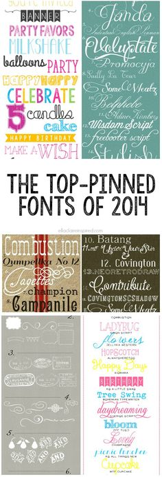 From fun party fonts, to gorgeous calligraphy, these Pinterest favorites are perfect additions to your font library!