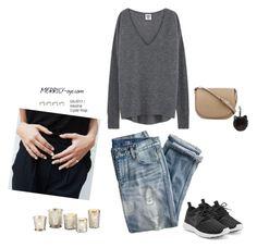 fashion by yumiko-merrily on Polyvore featuring ファッション, NIKE, CÉLINE, Ballard Designs and J.Crew