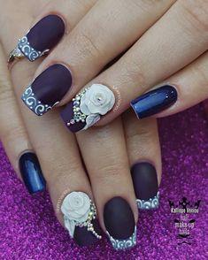Dark purple romantic nails  #nails#nailart #nailartforever #darkpurplenails #differentfrance #romanticnails #3dplastelineflowers #mattenails #salonnails #nailaddict #nails2inspire #nailaholic #nothingisordinary#nailartist #marinaveniou #nailartseminars ##trusttheexperts #beautymakesyouhappy   www.kalliopeveniou.gr