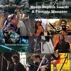This would be such a fun collection of movie replica swords and fantasy swords. Riddick claws, Sting, Conan's sword, the 300 sword, Aragorn's Andúril - the sword that was broken & remade, Braveheart's sword, Blade's katana, Kill Bill's Bride sword and Harry Potter short Godric Gryffindor sword.