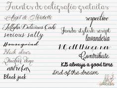 Life of watercolors: Inspiración: Fuentes de caligrafía
