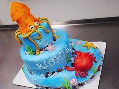 ocean cakes birthday   Ocean themed birthday cake for a little boy called 'Squid'   Flickr ...